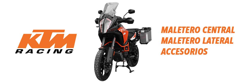 Moto KTM con maletero de aluminio, top case ktm, alforjas para moto ktm