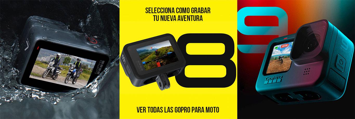 Cámaras GoPro 7 8 y 9 para moto en Bogotá Colombia - Koju Motos